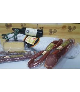 Cesta Queso, Mejillones, Miel, Lomo, Vino y Chocolate