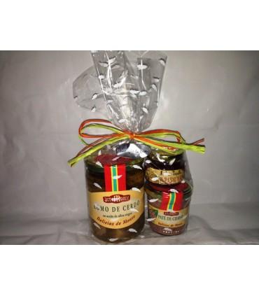 Jamón Rerserva, Embutidos Tradicionales, Vino y Cabeza de lomo adobada