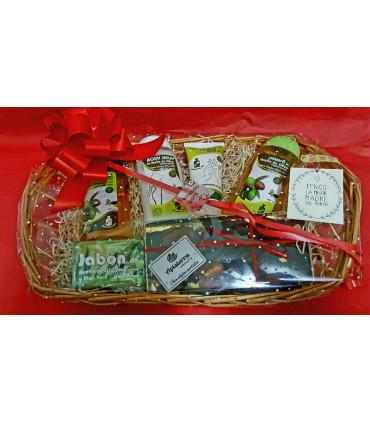 Caja regalo navidad 2: vino, ibérico, patés, miel, queso