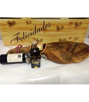Lote Jamón Reserva, Vino y Aceite