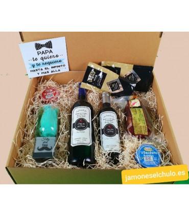 Caja regalo 1 embutidos, queso, paté, encurtidos