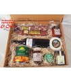 Caja regalo 5- embutido, queso, paté, vino, mermelada, miel, conservas