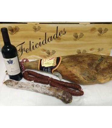 Lote Jamón Reserva, Embutidos Tradicionales y Vino