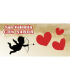 Caja regalo San Valentin, chocolates, mermelada, licor, cava, regalos personalizados
