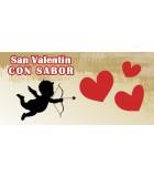 Caja regalo San Valentin, chocolates, mermalada, licor, cava, queso, regalo personalizado